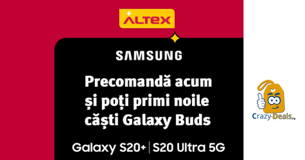 Precomanda Galaxy S20+ | S20 Ultra 5G Bonus Galaxy Buds