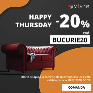 HAPPY THURSDAY -20% pe Vivre