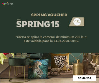 SPRING VOUCHER -15% tot weekend-ul pe Vivre