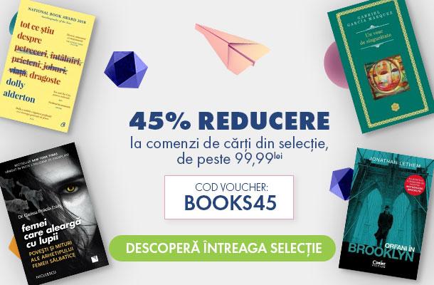 Ai mii de cărți cu 45% reducere, doar azi! 📚 pe Elefant