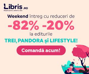 Editura TREI la -82% -20%! Un WEEKEND cu lecturi la puterea a TREIa pe Libris!