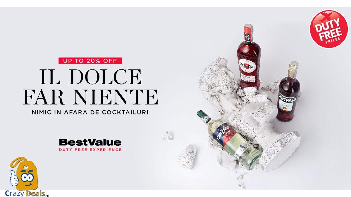 BestValue Italian Days Sale: 20% reducere la o selectie de bauturi italienestii