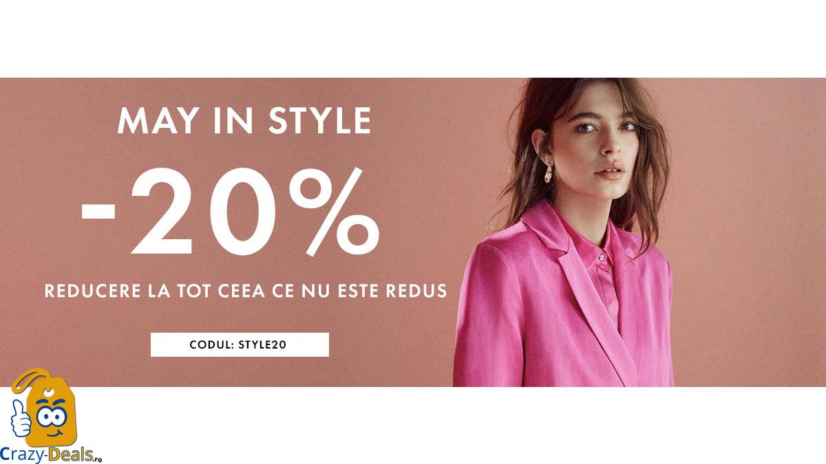 May in Style - 20% discount pentru toate produsele fără reducere pe BIBLOO