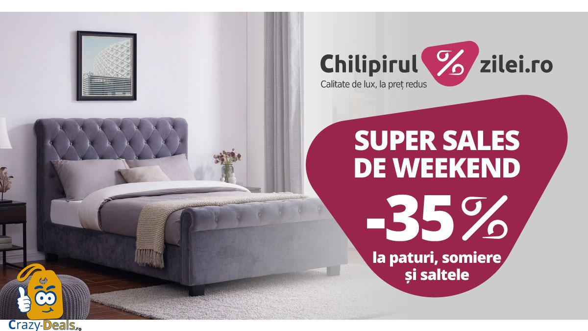 Promo Chilipirul-Zilei 35%reducere la paturi, somiere si saltele