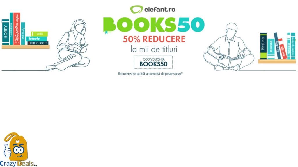 Cod reducere ELEFANT 50% reducere garantată la mii de titluri