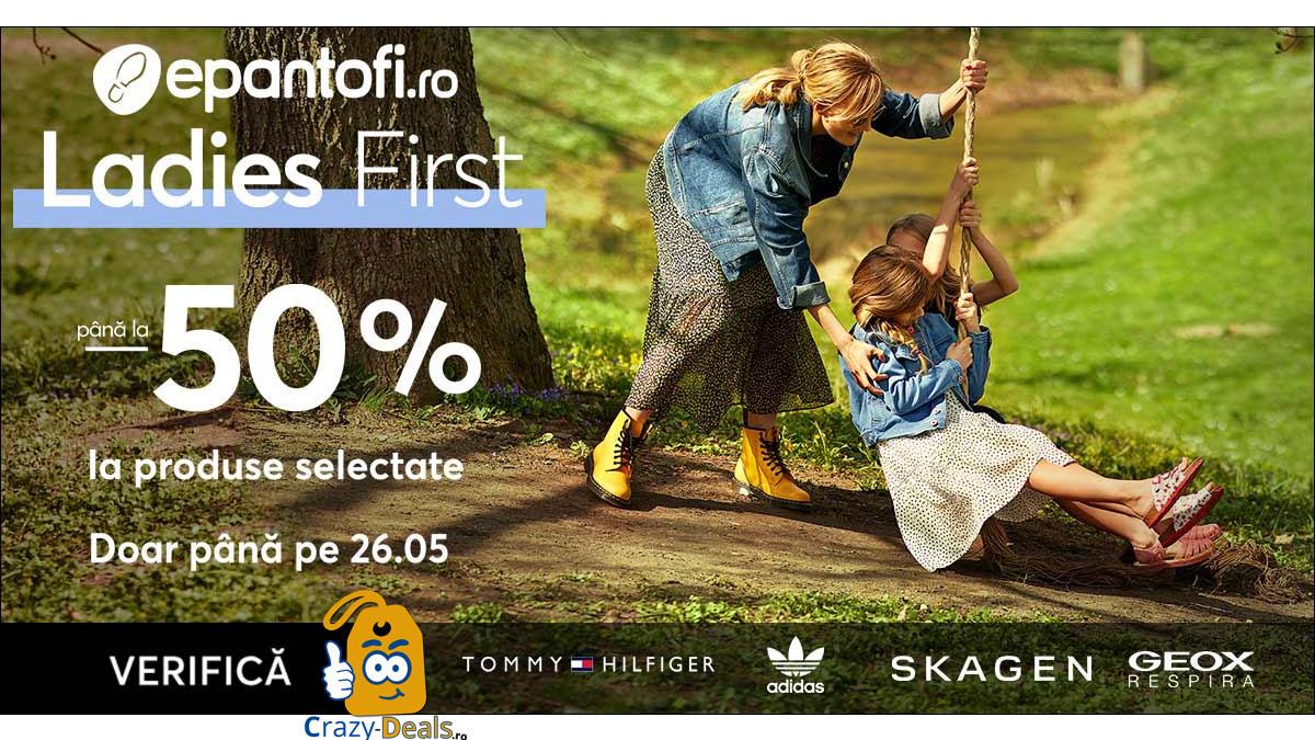 Ladies First până la -50% cod reducere ePantofi