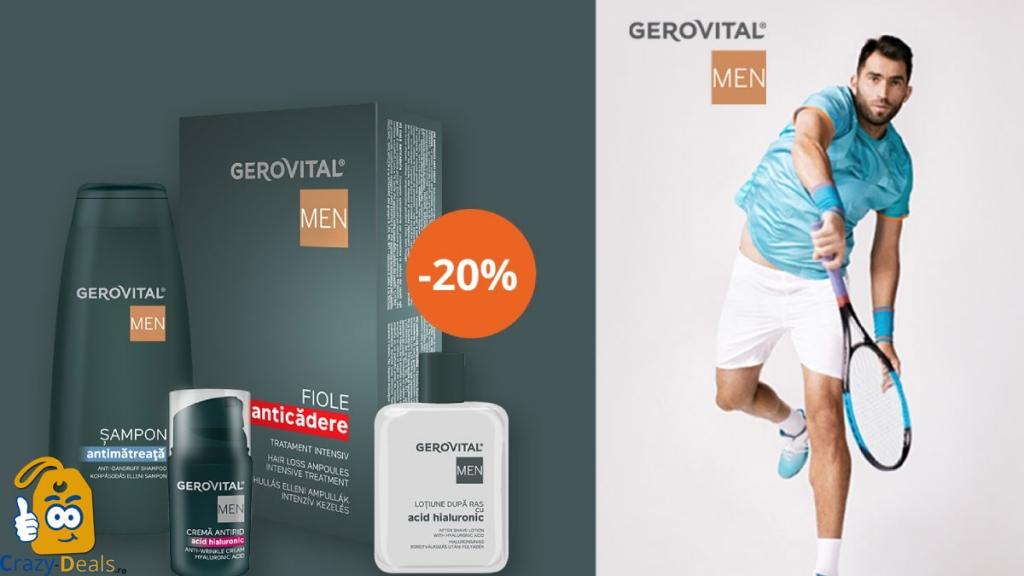 20% Reducere la minim 2 produse Gerovital MEN