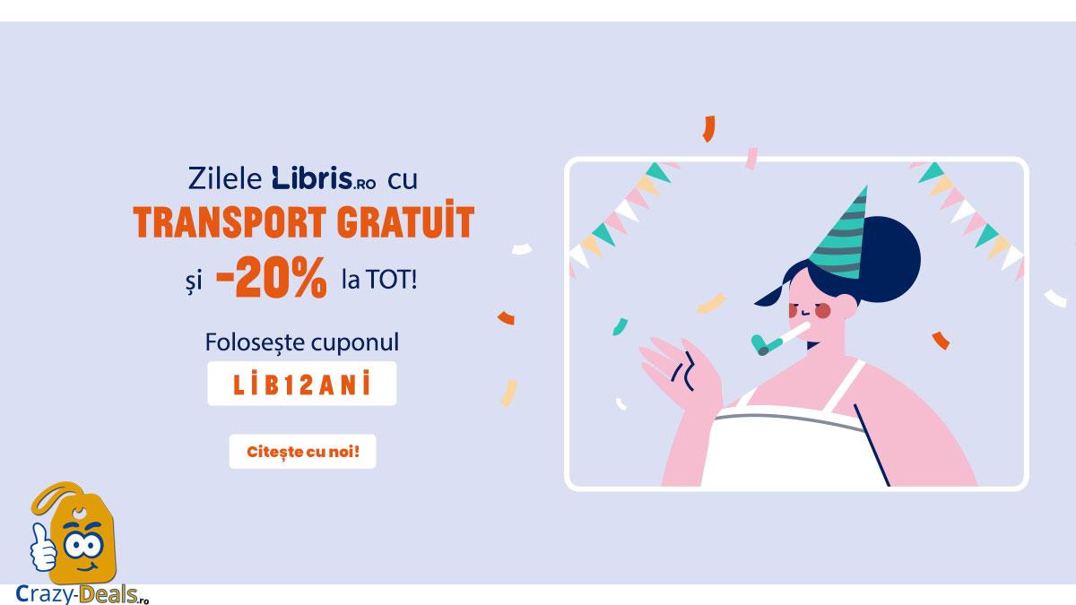 Zilele Libris! Transport Gratuit si cupon reducere -20% la TOT
