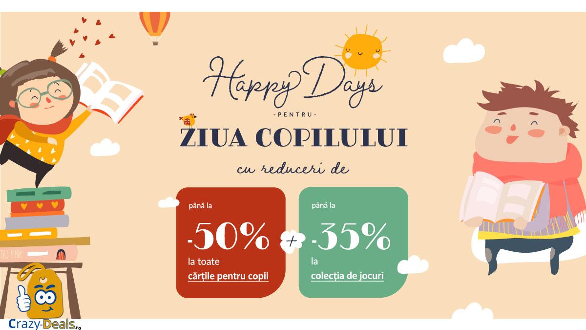 Ziua Copilului cu -50% -20%! Happy days pentru prichindei pe Libris