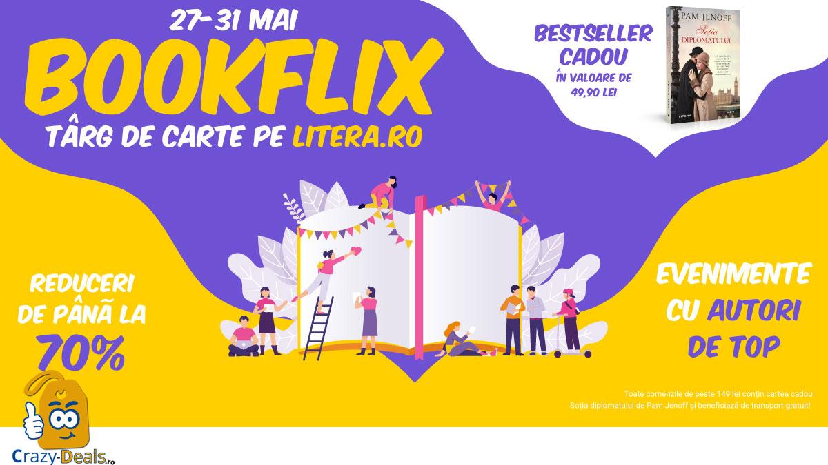 BOOKflix - targ de carte pe Litera cu reduceri de pana la -70%