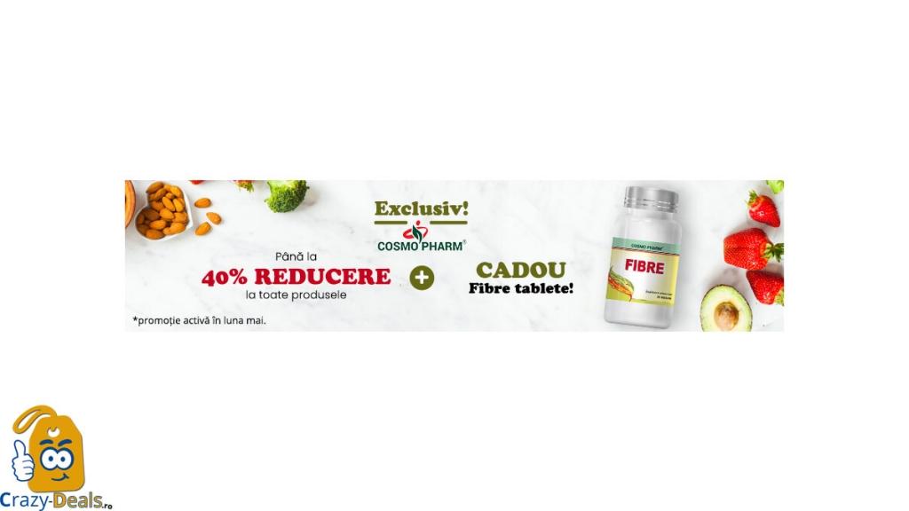 Ofertă Specială Cosmo Pharm: 40% REDUCERI + CADOU pe Vegis