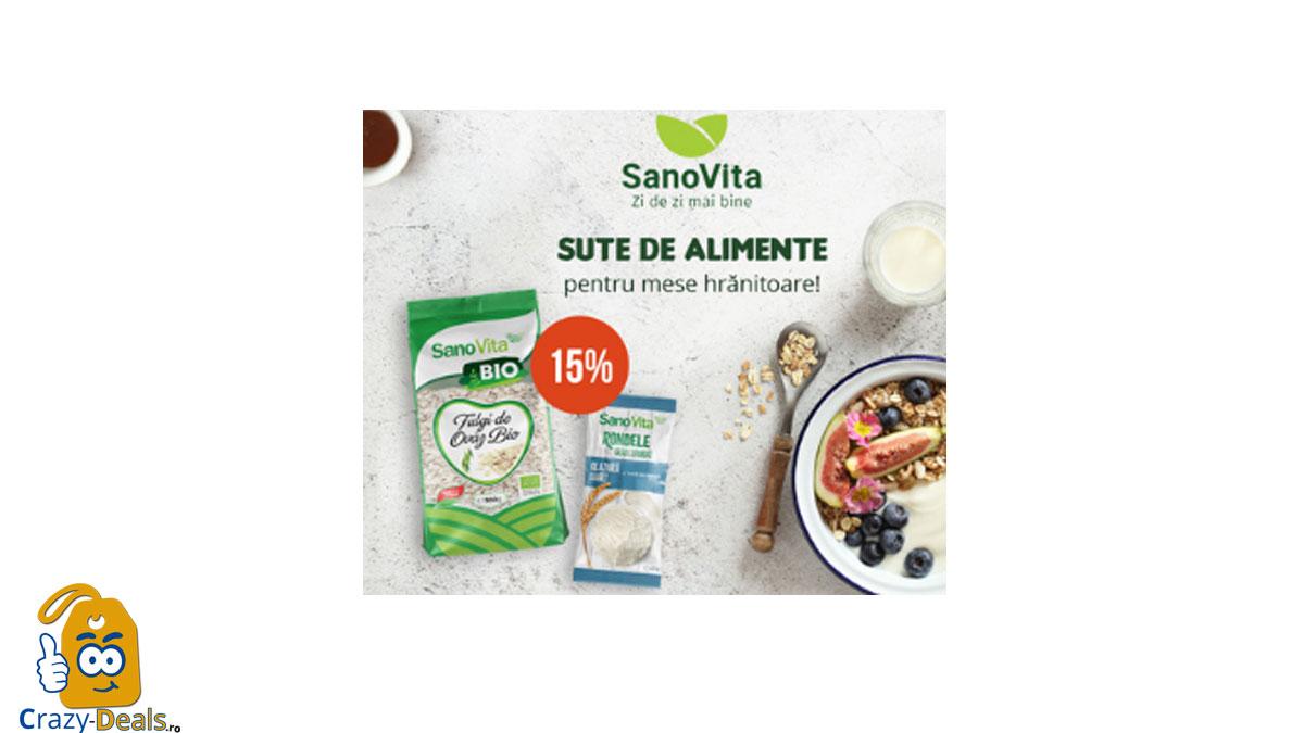 15% REDUCERE la toate produsele SanoVita pe Vegis