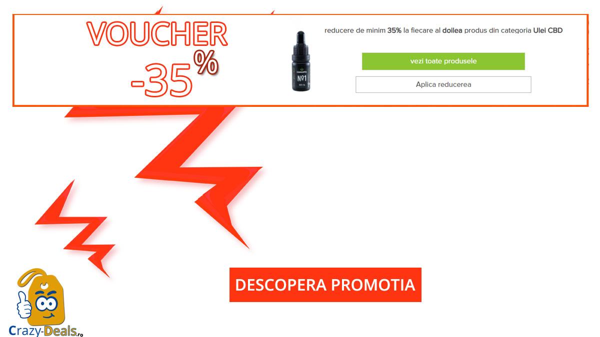 Voucher VitaMix minim 35% reducere la fiecare al doilea produs din categoria Ulei CBD