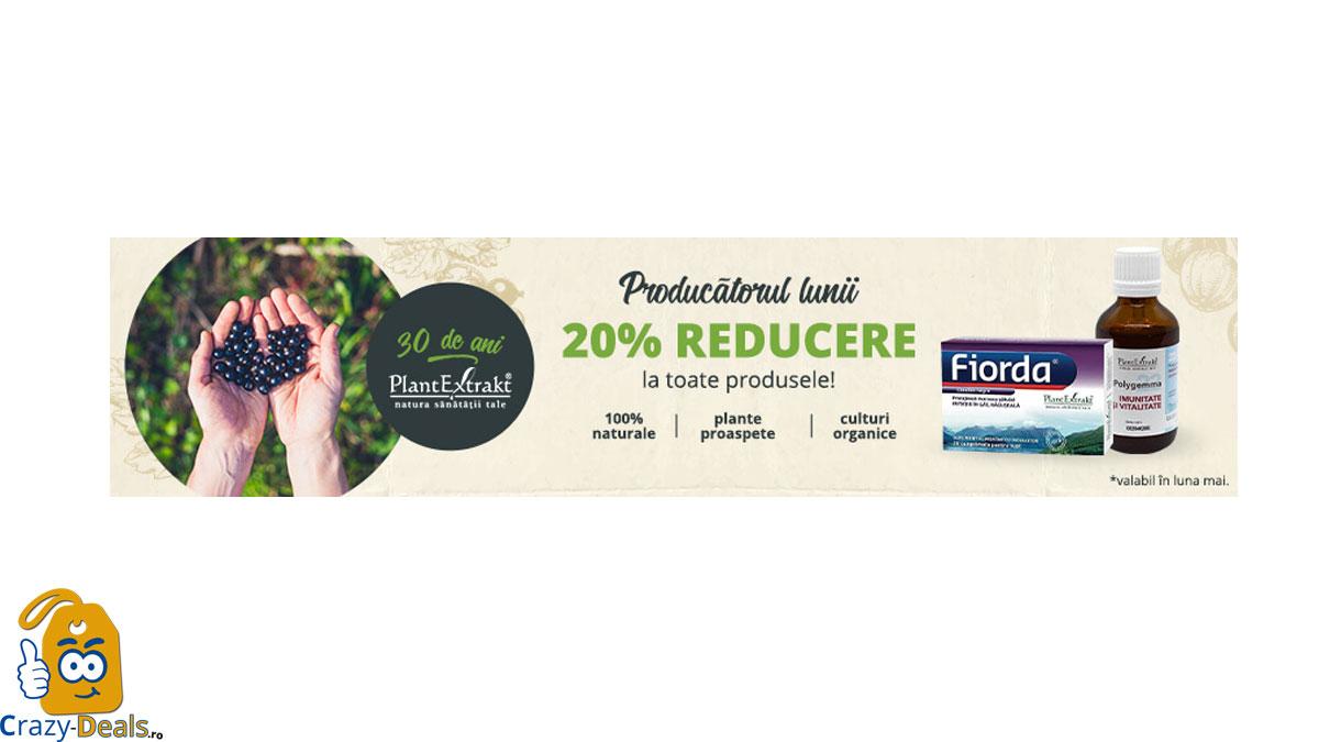 Producătorul Lunii Mai pe VEGIS PlantExtrakt: 20% REDUCERE la toate produsele!