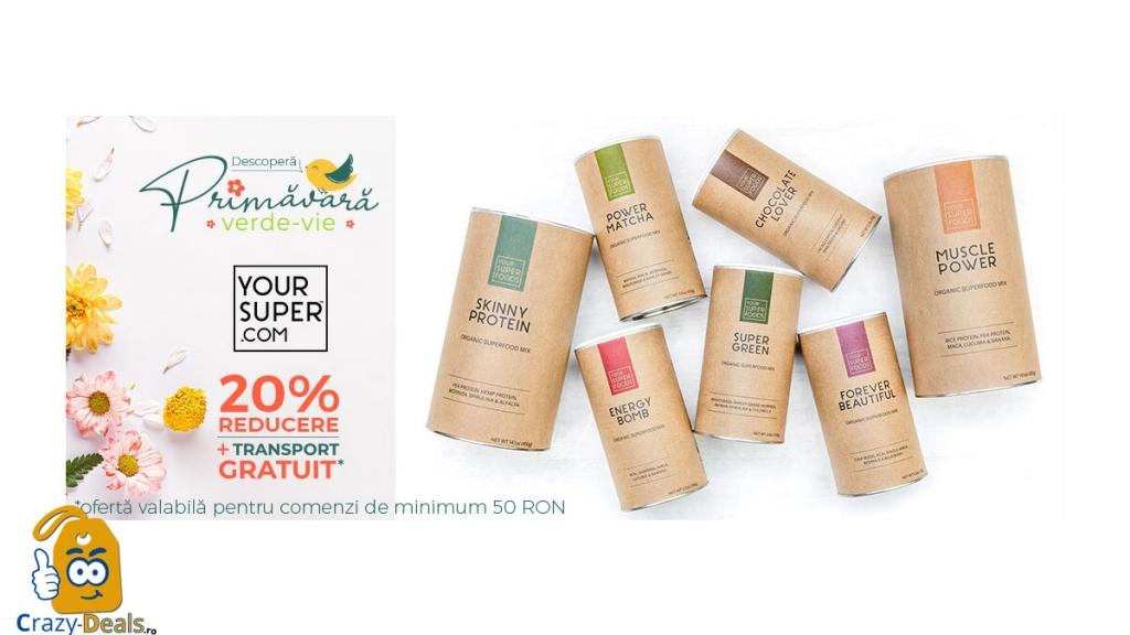 Promotie VVV 15% Reducere la toate mixurile cu superalimente Your Super și 17% Reducere la pachete