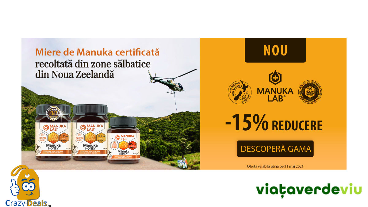 Promotie VVV 15% Reducere la Mierea de la Manuka Lab