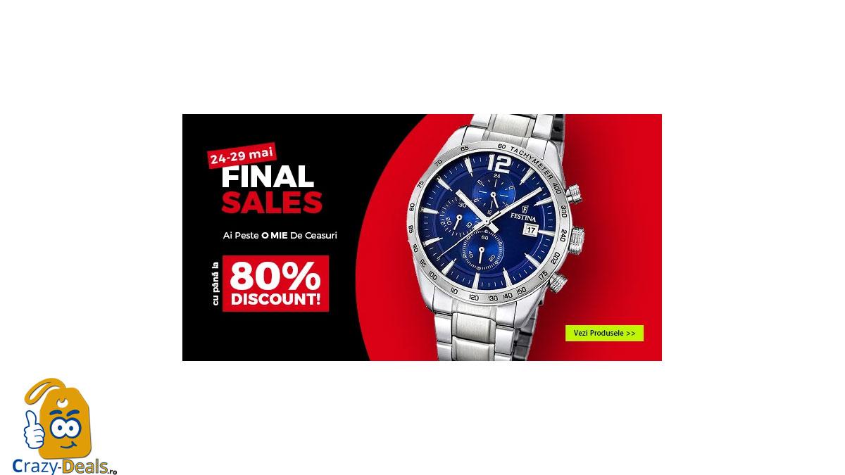Final Sale WatchShop reduceri cu pana la 80% la ceasuri - LICHIDARE STOC