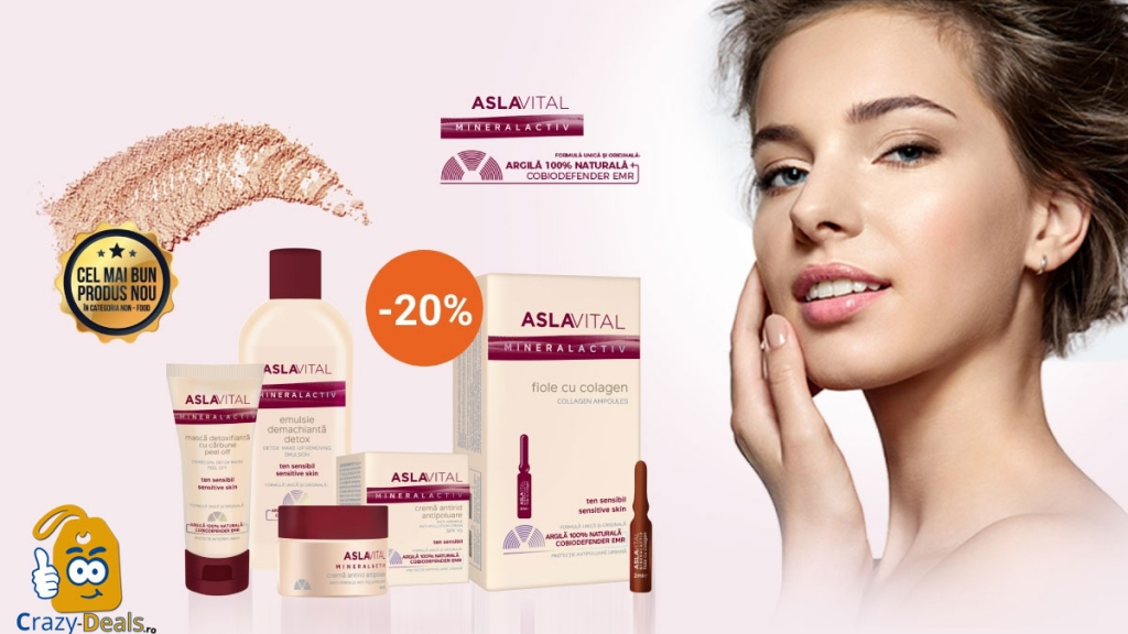 Promotie Farmec 20% Reducere la 2 produse Aslavital Mineralactiv