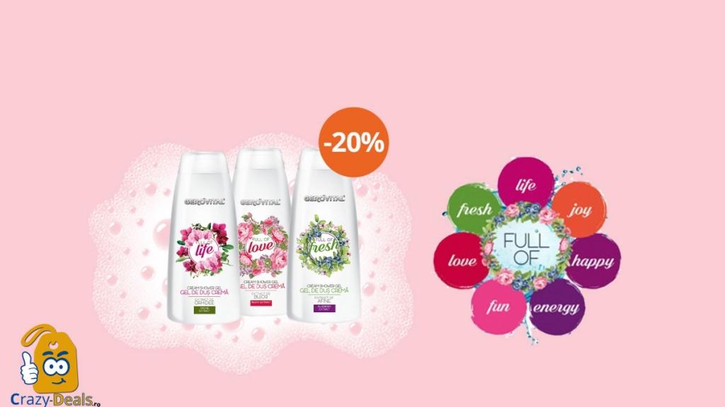 Promotie Farmec Geluri de Duș cu 20% Reducere