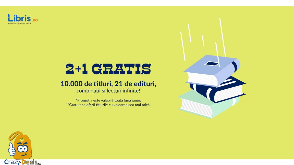 2+1 GRATUIT pe Libris 21 de edituri, peste 10.000 de titluri!