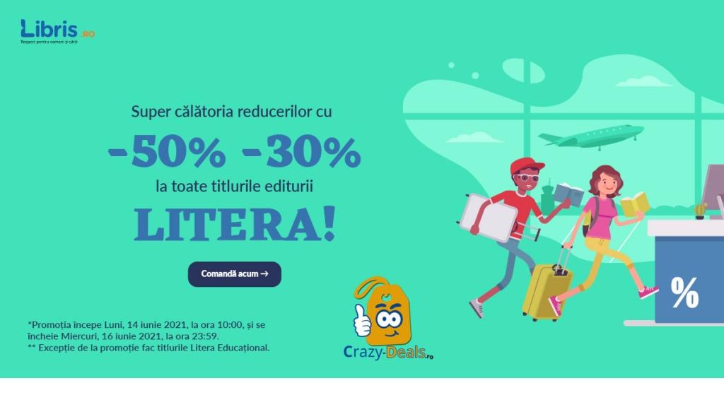 Titlurile LITERA la -50% -30% reducere pe Libris! Doar 62H! Calatoria reducerilor!