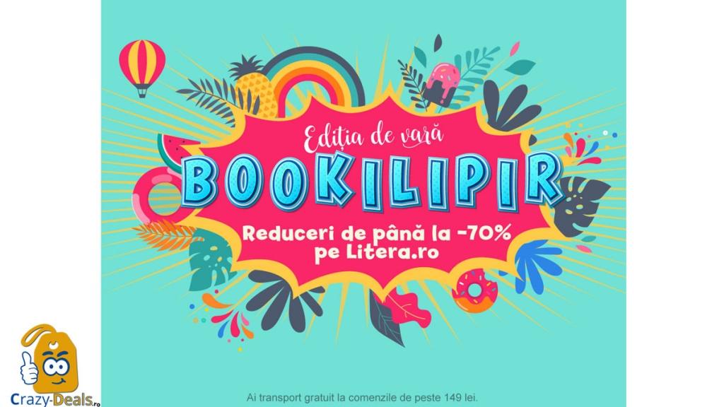 LITERA BOOKILIPIR - ediția de vară cu reduceri de pana la 70%