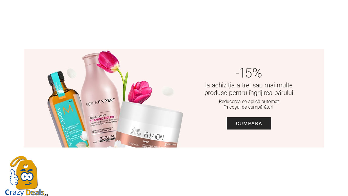 Promotie NOTINO Reducere 15% la comanda 3 produse cosmetice pentru îngrijirea părului
