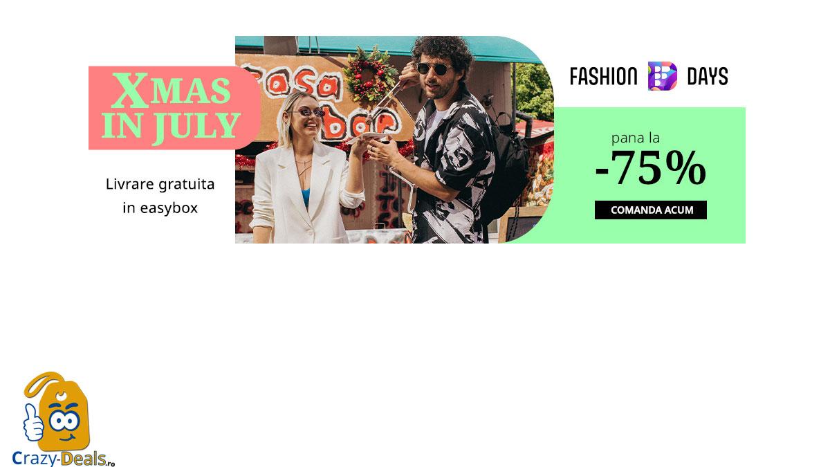 Fashion Days Xmas in July - reduceri de pana la 75%