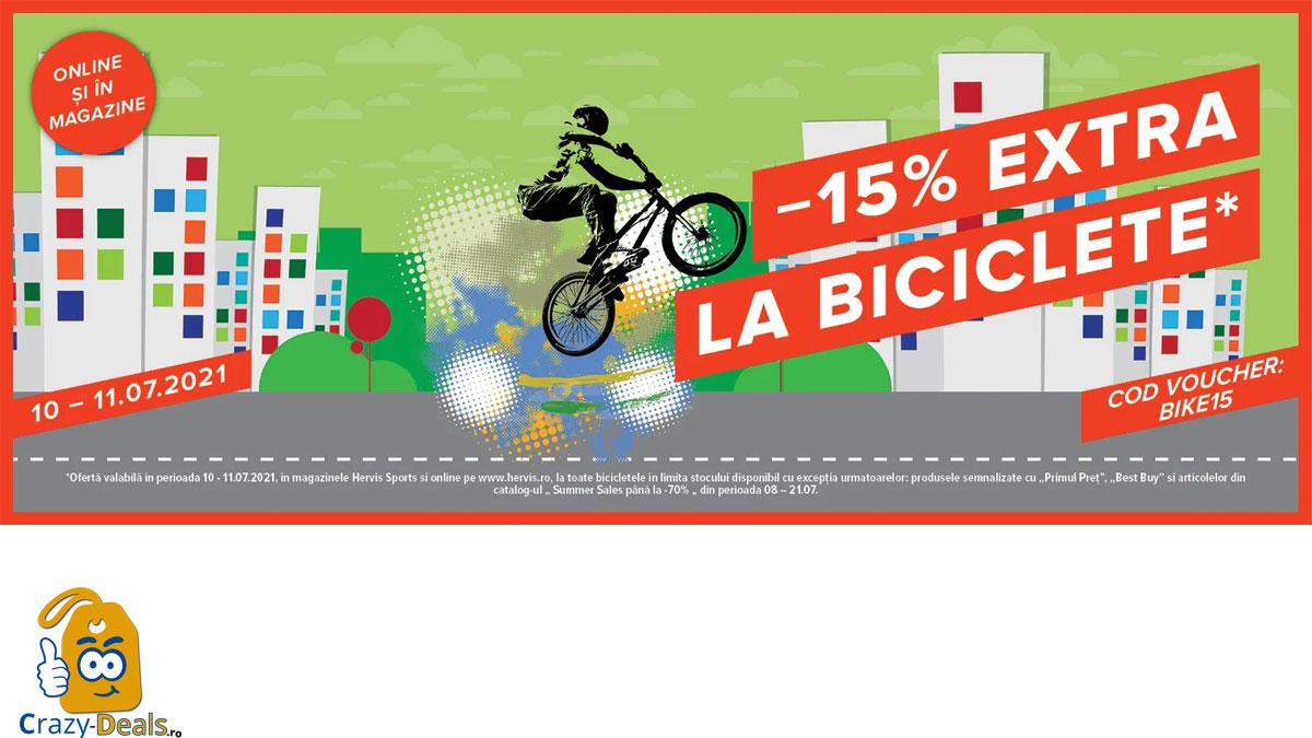 Weekend-ul bicicletelor la Hervis! Cod reducere Hervis 15%