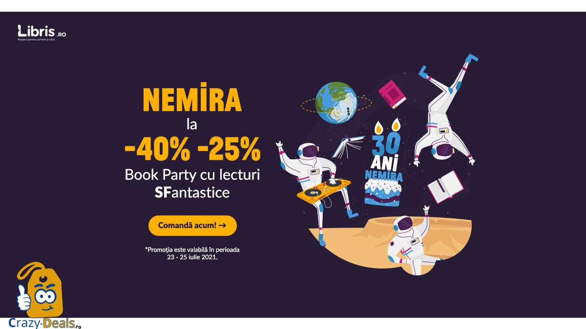 La multi ani, NEMIRA! -40% -25% reducere pentru un book party SFantastic pe Libris
