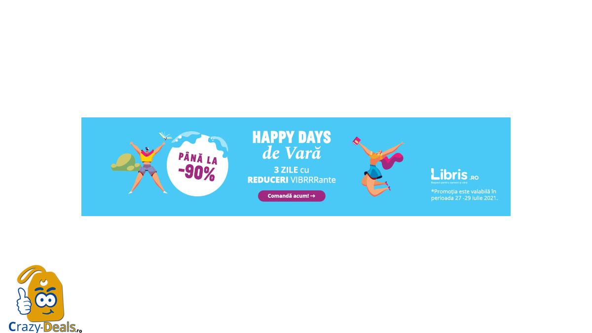 Happy Days cu -90% -30%! Trei zile cu REDUCERI VIBRRante pe Libris