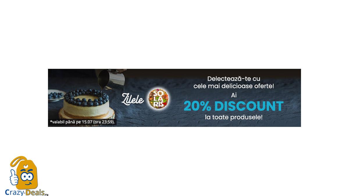 Zilele Solaris: 20% DISCOUNT la toate produsele pe Vegis