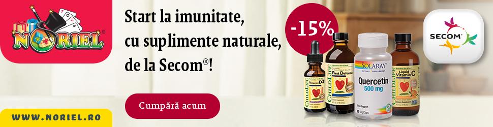 Reduceri -15% Secom pe Noriel Suplimente Naturale pentru imunitate