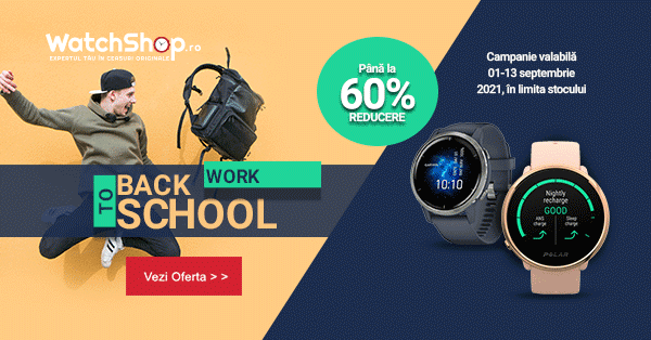 Back to School, Back to Work - reduceri de pana la 60% pe WatchShop