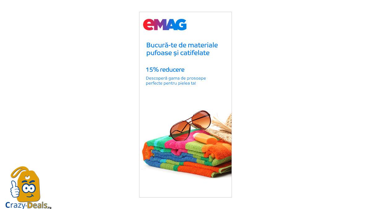 15% reducere la gama de prosoape pe eMAG