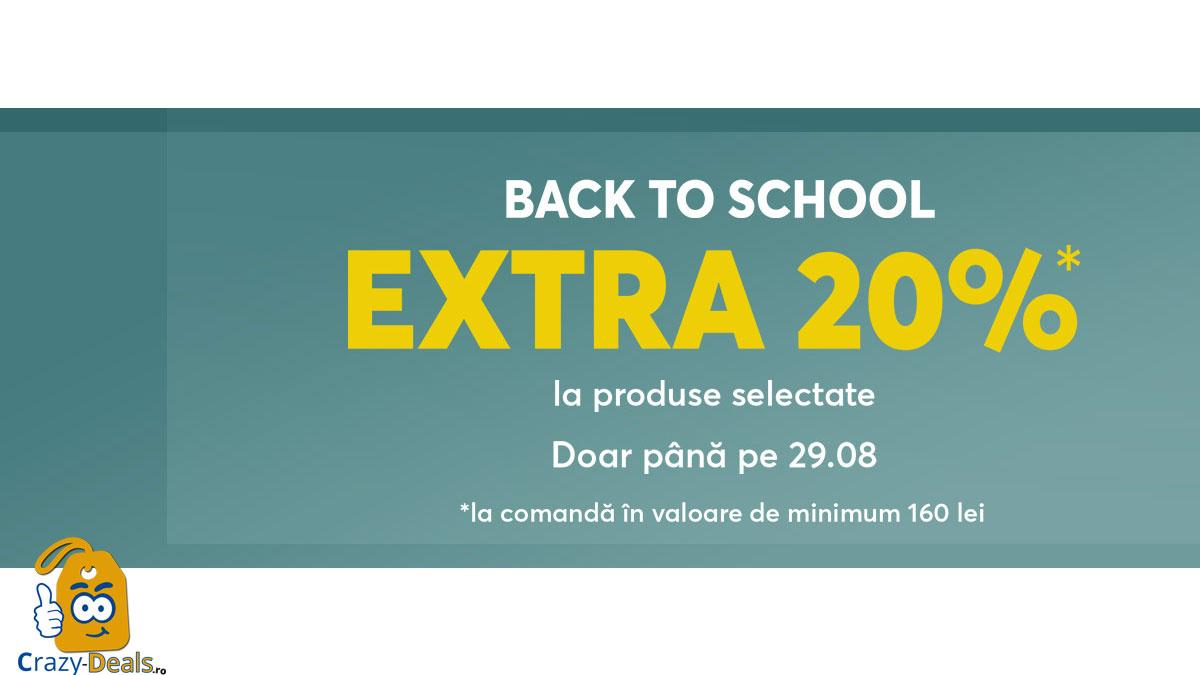 Cod reducere epantofi Extra 20% Back to School