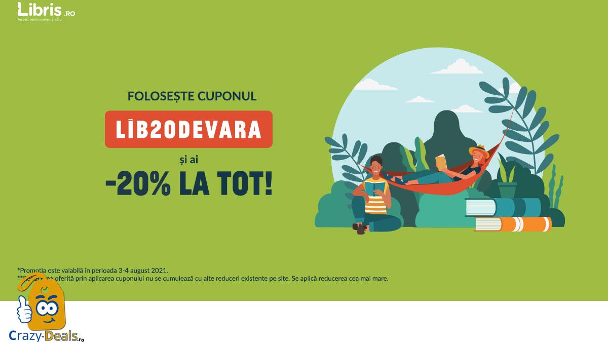 Cupon Libris -20% la TOT! Lecturi de vara, jocuri estivale!