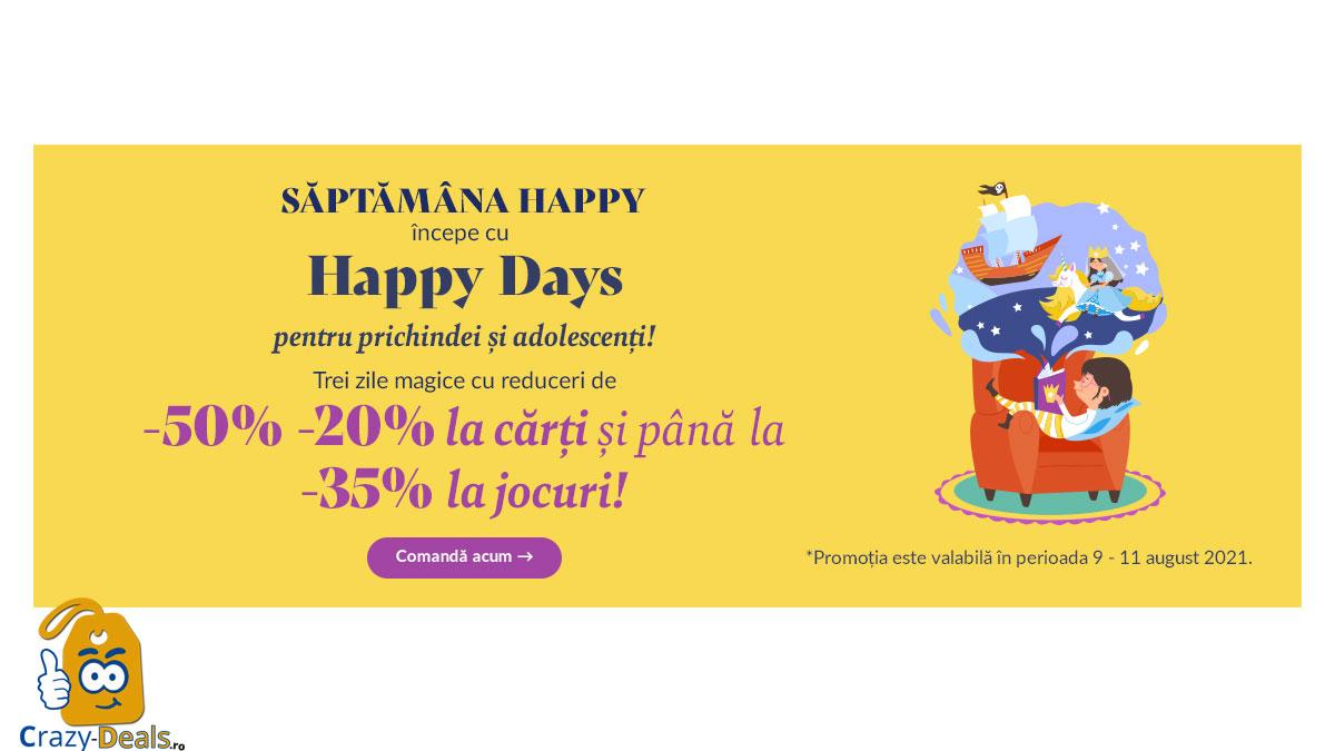 -50% -20% reducere pe Libris ! Happy Days pentru prichindei si adolescenti