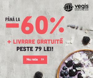 Promo Vegis Pana la -60% reducere + LIVRARE GRATUITA