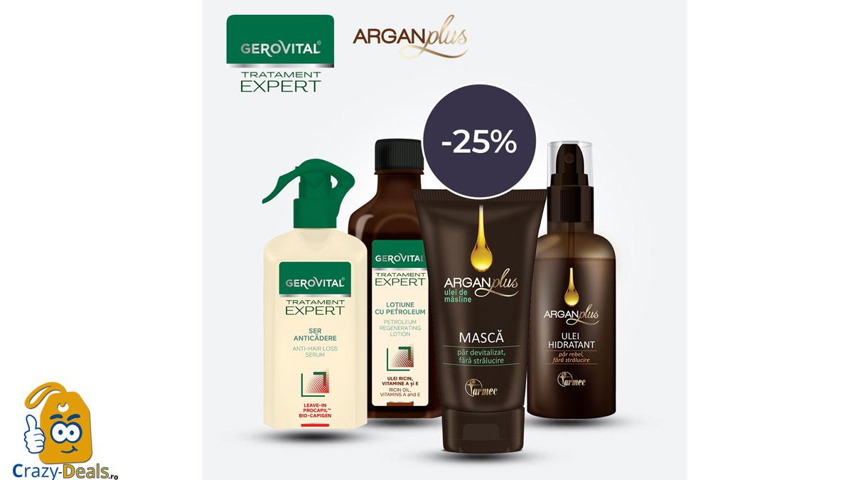 Promotie Farmec - pana la 25% Reducere la GEROVITAL TRATAMENT EXPERT & ARGAN PLUS