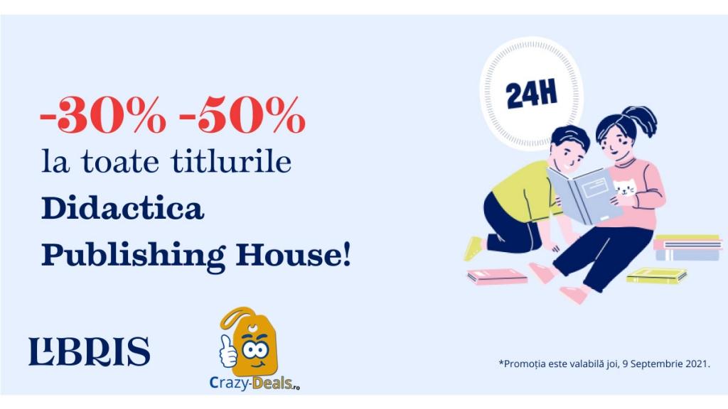 Promotie Libris -30% -50% reducere la toate titlurile Didactica Publishing House