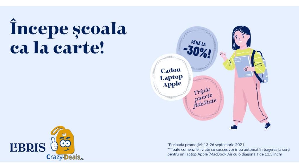 Back to School. Laptop CADOU, Reduceri pana la -30% pe Libris