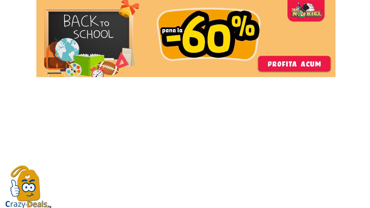 Reduceri de pana la 60% pe Noriel - promotie Back to School