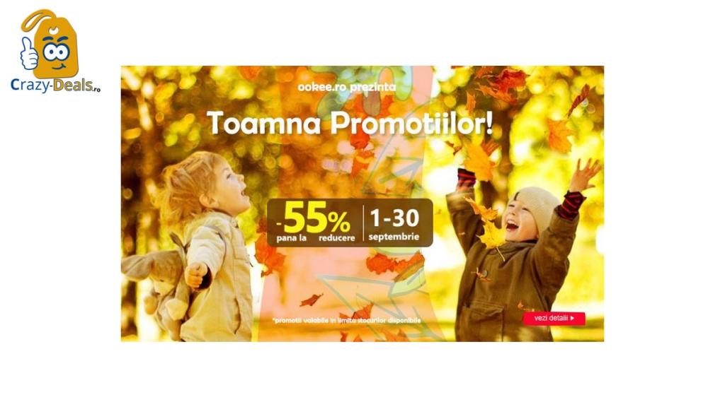 Promotia ookee - 55% Toama Reducerilor