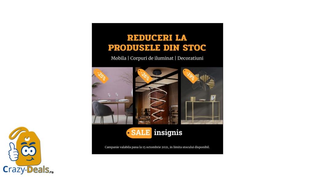 Promotie Insignis Reduceri de stoc cu pana la 50% discount