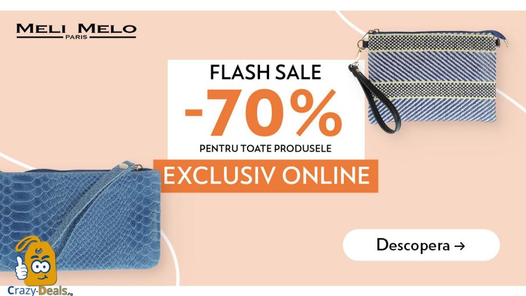 Meli Melo Flash Sale: 70% la produsele Exclusiv Online