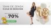 13 ani de ZENDA - 13 zile de REDUCERI pan la -70%
