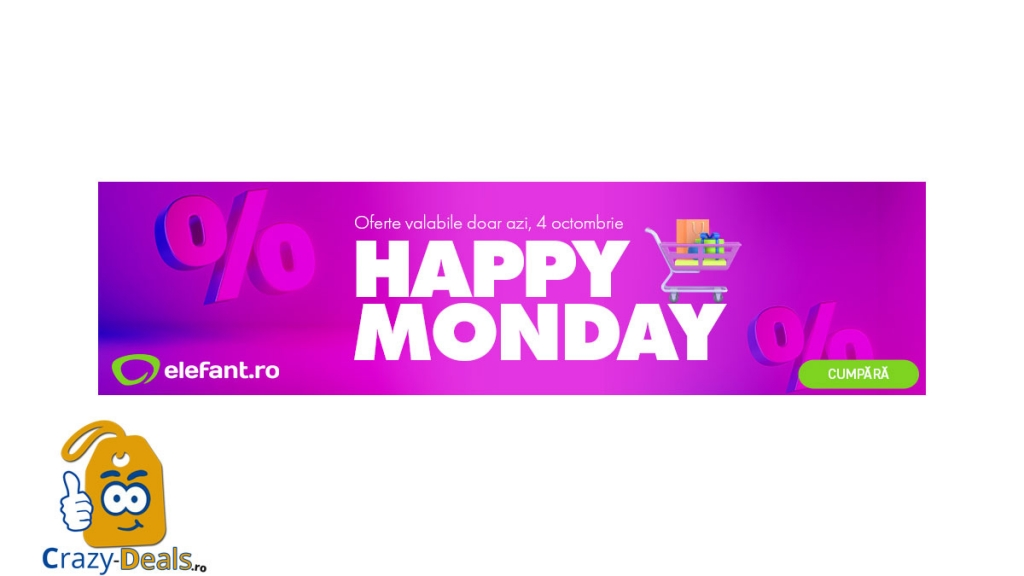 Promotie Elefant Happy Monday