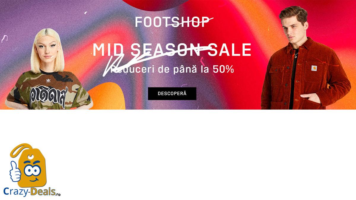 Promotie FootShop MID SEASON SALE cu pana la 50% reducere