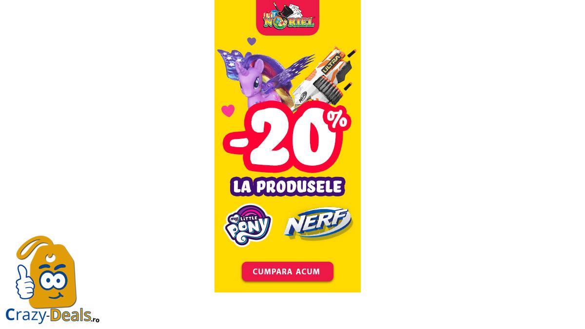 20% Reducere la Jucăriile Nerf și My Little Pony pe Noriel